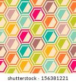 retro geometric hexagon... | Shutterstock .eps vector #156381221