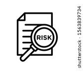 risk word magnifying glass... | Shutterstock .eps vector #1563839734