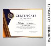 elegant blue and gold diploma... | Shutterstock .eps vector #1563846241