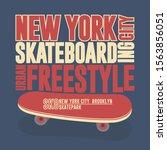skateboarding t shirt new york  ... | Shutterstock .eps vector #1563856051