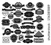 retro design elements. labels... | Shutterstock .eps vector #156385889