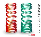 colorful 3d springs  spirals... | Shutterstock .eps vector #156388685