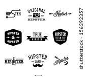 vintage hipster labels with... | Shutterstock .eps vector #156392357