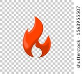red fire element icon cartoon...