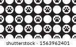 dog paw seamless pattern... | Shutterstock .eps vector #1563962401