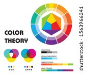 color theory with multicolored...   Shutterstock .eps vector #1563966241