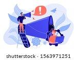 businessman talk in megaphone... | Shutterstock .eps vector #1563971251