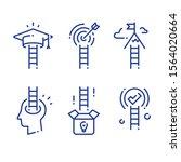 ladder to success concept  next ... | Shutterstock .eps vector #1564020664