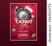 casino night party invitation... | Shutterstock .eps vector #1564024774