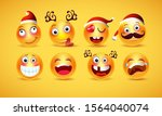 christmas emoji funny and cute... | Shutterstock .eps vector #1564040074