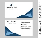 business card design template... | Shutterstock .eps vector #1564041481