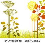 autumn plants   Shutterstock .eps vector #156405569