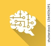 artificial brain icon. simple... | Shutterstock .eps vector #1564056391