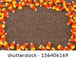 Candy Corn Framing Brown Tweed...