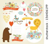 set of animals illustrations... | Shutterstock .eps vector #156406199