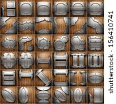 metal and wood background set | Shutterstock . vector #156410741