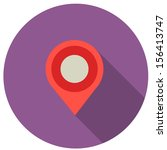flat design map marker icon...