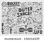 doodle space element | Shutterstock .eps vector #156416339