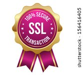 gold pink secure transaction... | Shutterstock .eps vector #156416405
