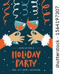 christmas invitation. holiday... | Shutterstock .eps vector #1564197307