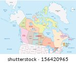 canada administrative map | Shutterstock .eps vector #156420965