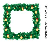 frame of branches of christmas... | Shutterstock . vector #156425081