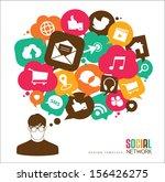 social media icons   speech... | Shutterstock .eps vector #156426275