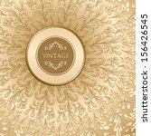 vintage gold background  vector ... | Shutterstock .eps vector #156426545