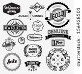 set of vintage bagdes  labels... | Shutterstock .eps vector #156428501