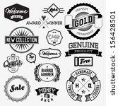 set of vintage bagdes  labels... | Shutterstock .eps vector #156428501