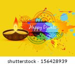 abstract style vector diwali... | Shutterstock .eps vector #156428939