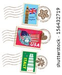 country stamps icon collection   Shutterstock . vector #156432719