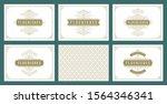 vintage ornament greeting cards ... | Shutterstock .eps vector #1564346341