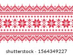 christmas vector long seamless... | Shutterstock .eps vector #1564349227