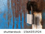 rusty old padlock for locking...   Shutterstock . vector #1564351924