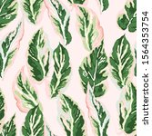 floral foliage seamless pattern....   Shutterstock .eps vector #1564353754