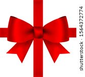 Red Bow For Gift And Greeting...