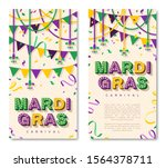 Mardi Gras Vertical Banner With ...