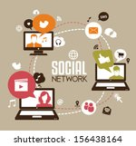 social network | Shutterstock .eps vector #156438164