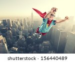 a little superhero ready to... | Shutterstock . vector #156440489