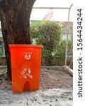 hazardous waste bin thailand... | Shutterstock . vector #1564434244