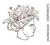 roman antique sculpture head of ...   Shutterstock .eps vector #1564436371