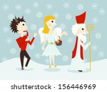 Saint Nicholas  Angel And Devil