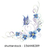 colorful summer tendril with... | Shutterstock .eps vector #156448289