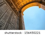 side view of triumph arc at... | Shutterstock . vector #156450221