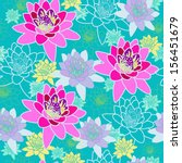 floral seamless pattern with... | Shutterstock .eps vector #156451679