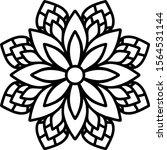 mandala design can be used for... | Shutterstock .eps vector #1564531144