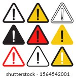 attention sign with exclamation ...   Shutterstock .eps vector #1564542001
