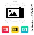 digital camera icon. vector...