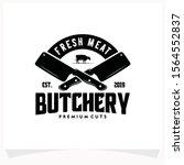 butchery shop logo design... | Shutterstock .eps vector #1564552837